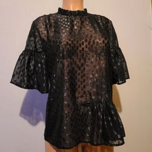 H&M Side Ruched Top Size 12